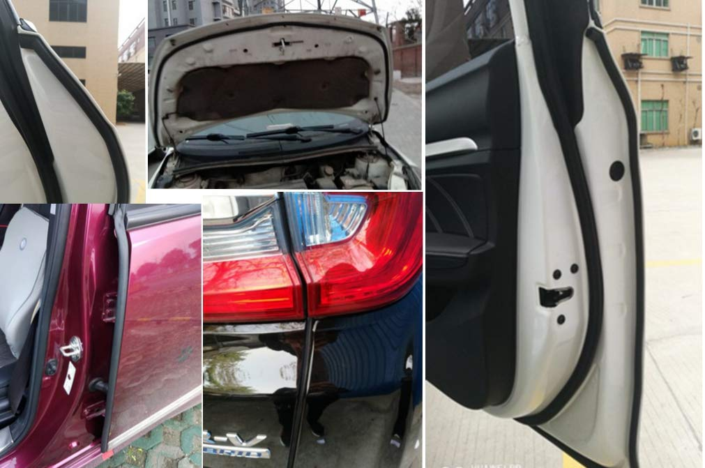 D-Shape Car Door Rubber Seal EPDM Foam Weatherstripping Moulding Automotive Weather Stripping Waterproof Hollow Self Adhesive Edge Protector Truck Motor Noise Cover Trunk Black