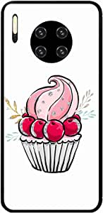 Okteq Hard back cover with side TPU bumper Back Cover Compatible with Huawei Mate 30 Pro - pink cupcake By Okteq