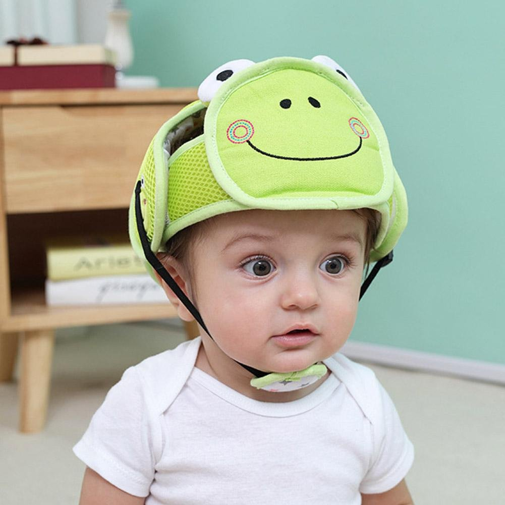 Per Baby Head Protector Helmet Lovely Cartoon Animal Shape Safety Head Guard Cushion with Adjustable Straps and Chin Pad Protection Cap Harnesses Hat for Infant Toddlers Learn to Walk and Sit-Lion