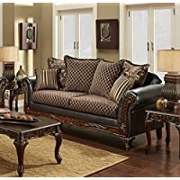 Chelsea Home Furniture Amelia Sofa, Sienna Brown/Bi-Cast Brown