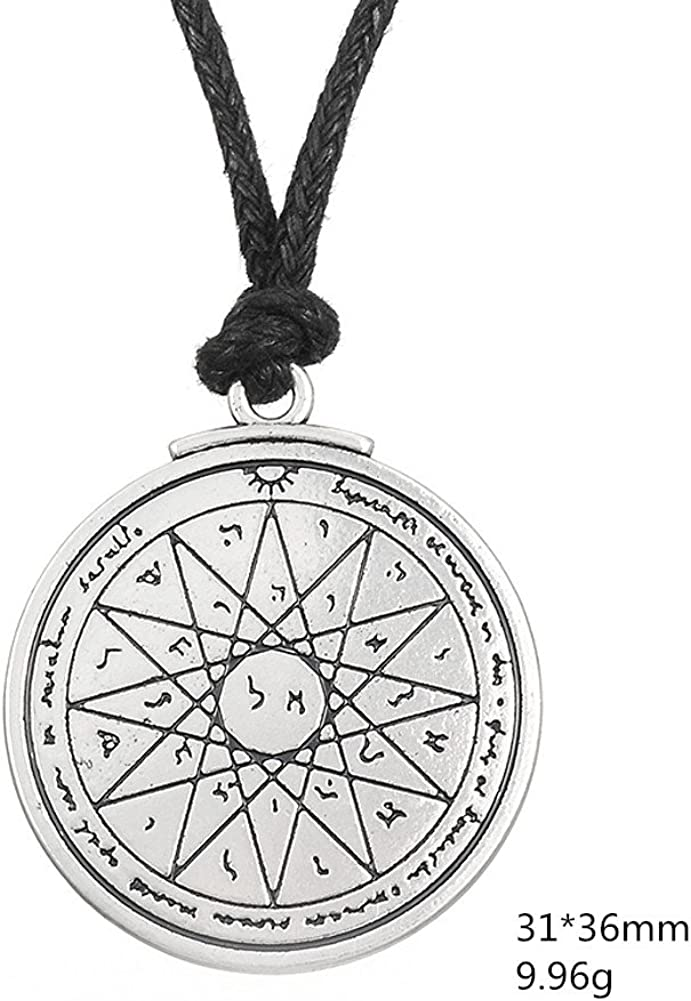 seventh pentacle of jupiter Key Of Solomon Pendant Stainless Steel Necklace