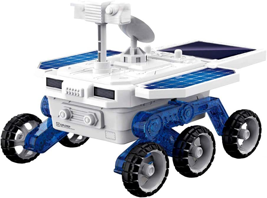 STEM Science Building Kit DIY Solar Power Toy car 4WD Motor Climbing Vehicles Educational Learning Science Building Toys for Kids Age 6+ Boys and Girls Solar Operation and Battery Operation