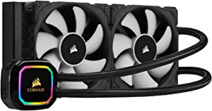 Corsair iCUE H100i RGB Pro XT, 240mm Radiator, Dual 120mm PWM Fans, Software Control, Liquid CPU Cooler