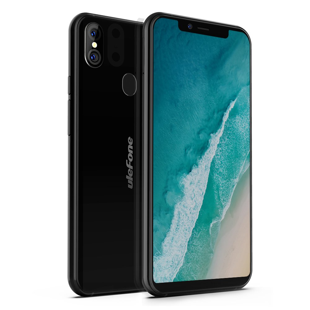 Ulefone X, Smartphone 4G Libre Portátil (2018) Android 8.1, 5.85'' 18:9 Pantalla Grande, 3300mAh, Carga Inalámbrica, OctaCore, 4GB+64GB, Doble Cámaras Traseras, Desbloqueo Facial, Doble SIM (Negro)