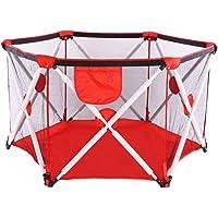 Laufstall, faltbarer und tragbarer Laufstall für Babys, sechseckiger tragbares Laufgitter mit atmungsaktivem Netz, Innen- und Außenspiel für Kinder von 0 bis 4 Jahren.