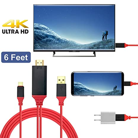 Google ChromeBook Surface book 2 and More Samsung Galaxy S10//S9//Note 9 Jmday Abuy USB Type C to HDMI Adapter Cable for Apple MacBook//iMAC USB C to HDMI