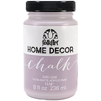 FolkArt Home Decor Chalk Finish Paint 8oz Lilac Amazoncouk