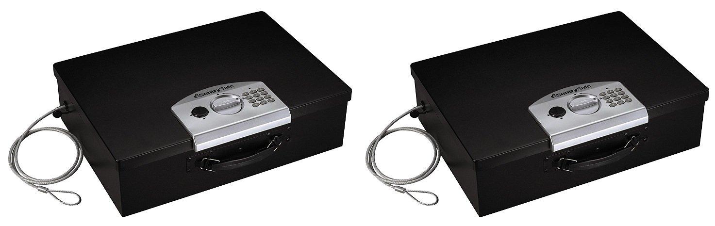 SentrySafe pl048e電子セキュリティボックス、0.5立方フィート、ブラック Pack of 2 B07FQVW962  Pack of 2