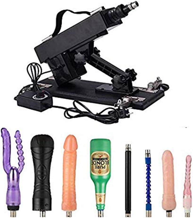 Máquina eléctrica telescópica regulable con el juguete de múltiples ángulos, masajeador automático for las partes del cuerpo, la hembra adulta machinegǚn masaje automático con los accesorios