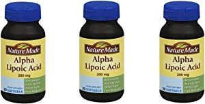 Nature Made Alpha Lipoic Acid 200 Mg (Pack of 3)