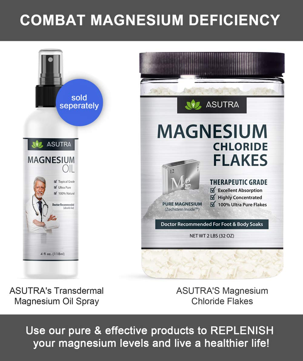 ASUTRA Pure Zechstein Magnesium Chloride Flakes - For Foot & Body Soaks + Free Magnesium E-Book (2 lbs) by ASUTRA (Image #7)