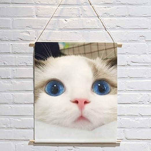 DQMSB Lindo Lindo Gato Mascota Animal Poster Fondo paño ins Pared ...
