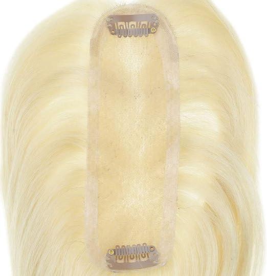LaaVoo 10 Pulgadas 130% Densidad Pieza de Pelo Superior Mono Base ...