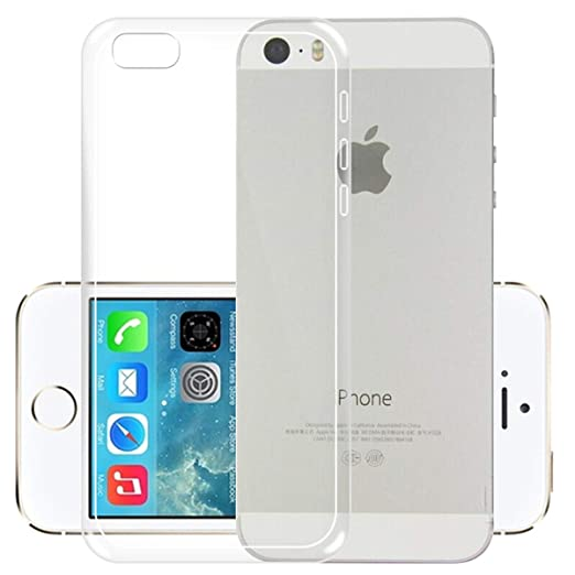 new product ab632 0e5c0 iPhone 5C Case [iCoverCase] Ultra-thin Silicone Back Cover Plain Soft TPU  Gel Rubber Translucent Clear Protector Shell for Apple iPhone 5C (4 Inch)