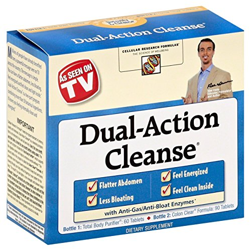 Applied Nutrition Dual Action Cleanse w/ Green Tea Bonus Kit, 150 ct (Pack of 2)