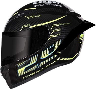 Clear Shield, S Mangen Full Face Motorbike Dual Sport Motorcycle Helmet Urban Scooter Helmets 29 Palm Print 55-56cm