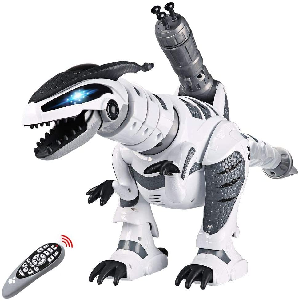 Amazon Prime Day Deals - Remote Control Dinosaur Toys, Interactive Programmable Robot Dinosaur Smart Fight Electronic Toy Gift for Toddler 3-10 Year Old Boys Girls with Walking Dancing Singing