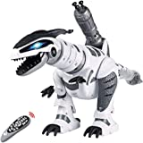 Remote Control Dinosaur Toys, Interactive Programmable Robot Dinosaur Smart Fight Electronic Toy Gift for Toddler 3-10…