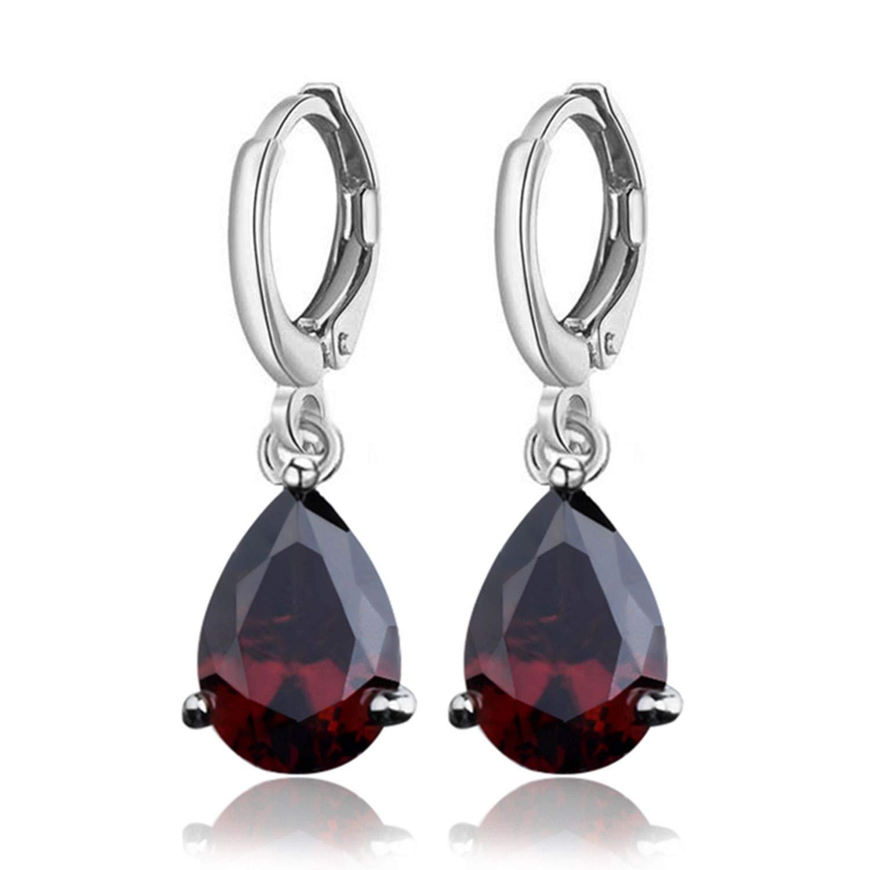 Xivikow Hanging Earrings 11 Colors Austria Crystal Horse Eye Stone Drop Earrings