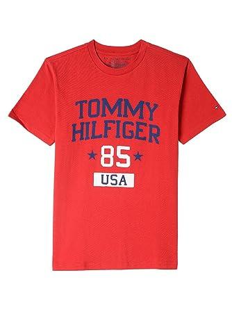 b2b8317de21 Amazon.com  Tommy Hilfiger Boys  Short Sleeve Graphic T-Shirt  Clothing