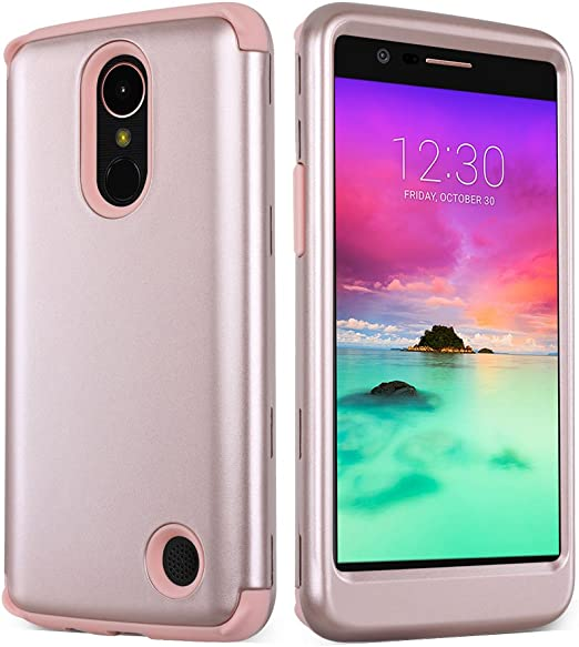 soundmae LG K10 2017 Case, Heavy Duty PC and TPU Combo Protective ...