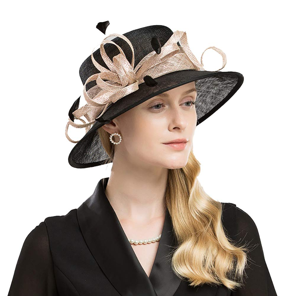 Luxurybox Ladies Glamourous Cambric Fascinator with Feather Hats