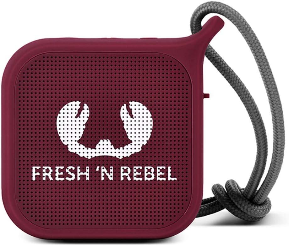 Fresh N Rebel Rockbox Pebble Ruby Kabelloser Bluetooth Lautsprecher Audio Hifi