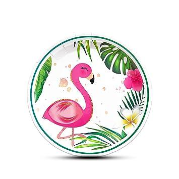 Amazon.com: WERNNSAI - Platos de flamenco (50 unidades ...