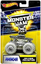 Hot Wheels Monster Jam 25th Anniversary Silver Collection Avenger Die-Cast Vehicle