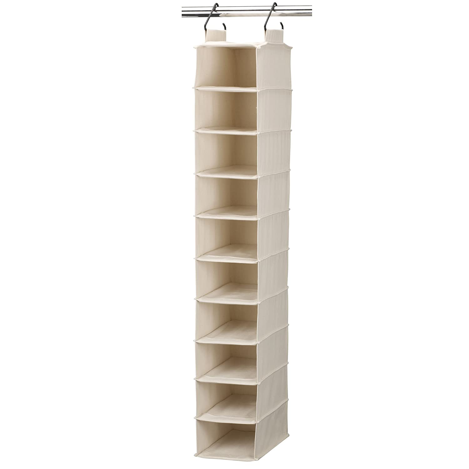 Elegant Amazon.com: Household Essentials 3328 1 Cotton Canvas Hanging Closet Shoe  Organizer | 10 Shelf | Natural: Home U0026 Kitchen