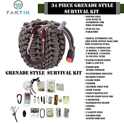 34-Piece-Emergency-Survival-Kit-with-40-Feet-of-Genuine-550-Paracord
