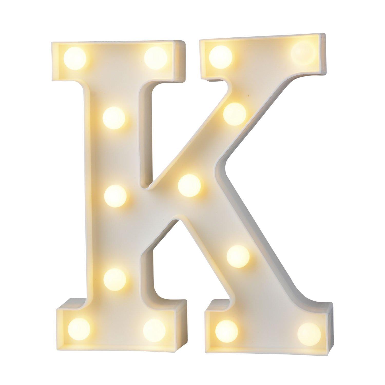 A Z Alphabet Lumière Blanc Led Nuit Lampes En Plastique Lettre