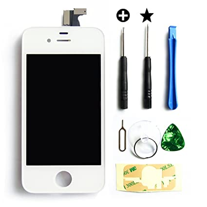 MMOBIEL LCD Display Touch Screen for iPhone 4 (White) Front Gl ... on iphone 4 models, iphone 4 without contract, iphone 4 modifications, iphone 4 rate bd, iphone 4 4g, iphone 4 a1303, iphone 4 with contract, iphone 4 a1387, iphone 4 mods, iphone 4 a1349,