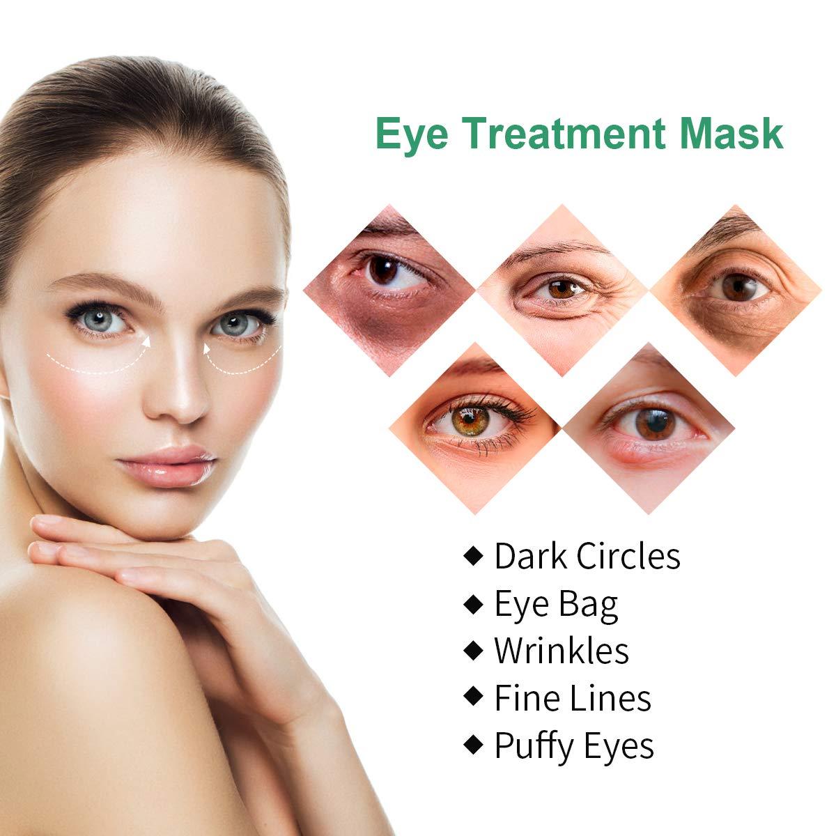 Under Eye Patches, Collagen Under Eye Pads 30 Pairs Anti Aging Tea Gel Eye Treatment Mask for Women Men Energizing Moisturising Hydrating Eye Bags Dark Circles Wrinkles Under Eye Mask