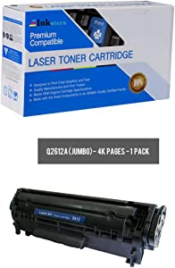 Inksters Compatible Toner Cartridge Replacement for HP 12A (Q2612A)(J) Jumbo Yield Black - Compatible with Laserjet 1010 1012 1015 1018 1020 1022 1022n 1022nw 3015 3020 3030 3050 3052 3055 MFP M1005