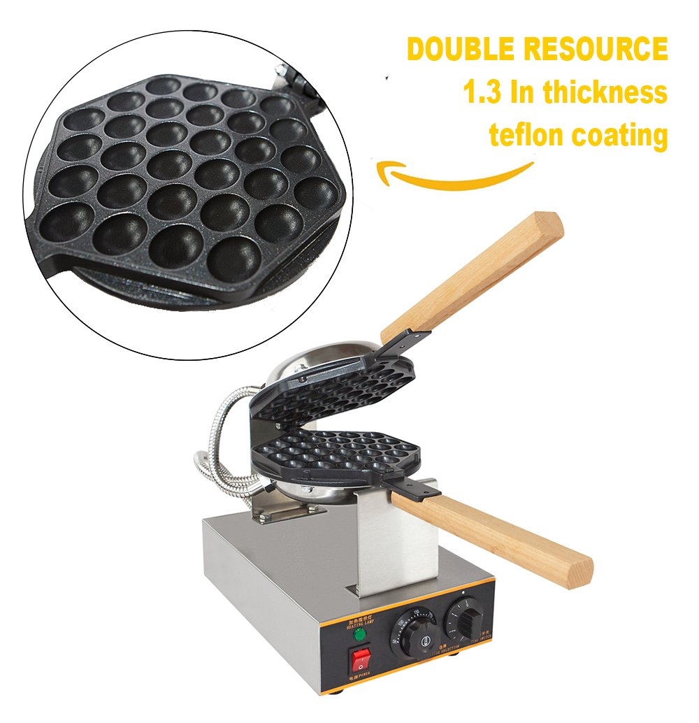 Stainless Steel Professional Electric Egg Cake Oven Puff Bread Maker Bake Machine for Muffin Cake Eggettes Cooking Puff Egg ALDKitchen Egg Cake Oven