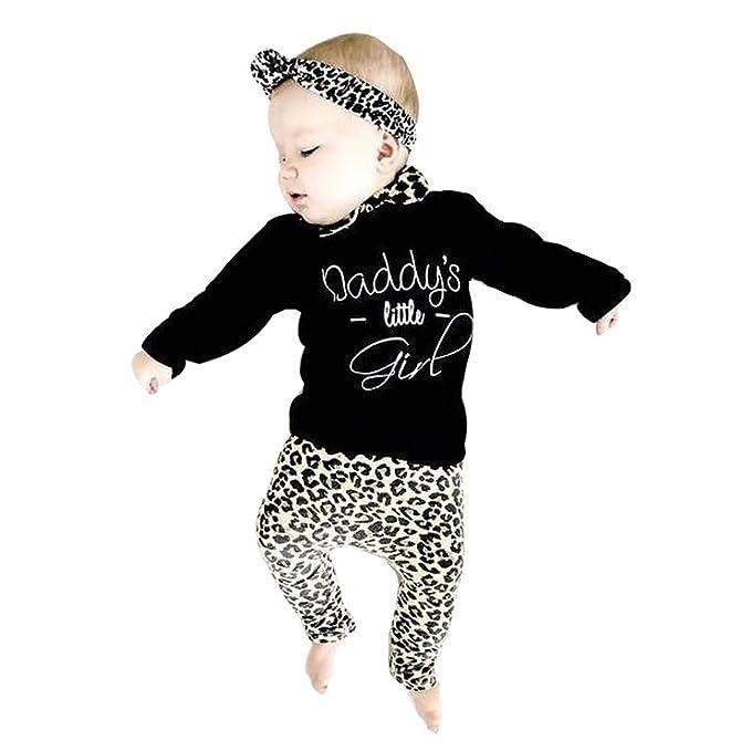 3a92f19d7f72 Xshuai ® Fashion Newborn Infant Baby Girl Letter T Shirt Tops+Leopard Print  Pants Outfits 2PCS Tracksuit Clothes Set: Amazon.co.uk: Clothing