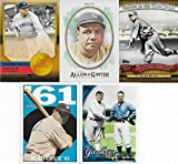 Babe Ruth 10 Card Gift Lot Including 2017 Allen and Ginter, 2010 Topps with Gehrig, 2010 Heritage, 2012 Golden Greats and 6 Other Mint Cards of the New York Yankees and Red Sox Hall of Famer