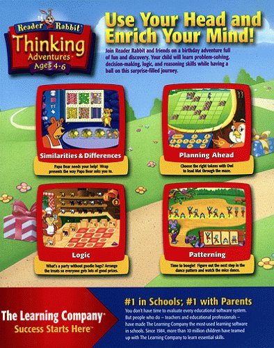 Amazon.com: Reader Rabbit Thinking Adventures Ages 4-6
