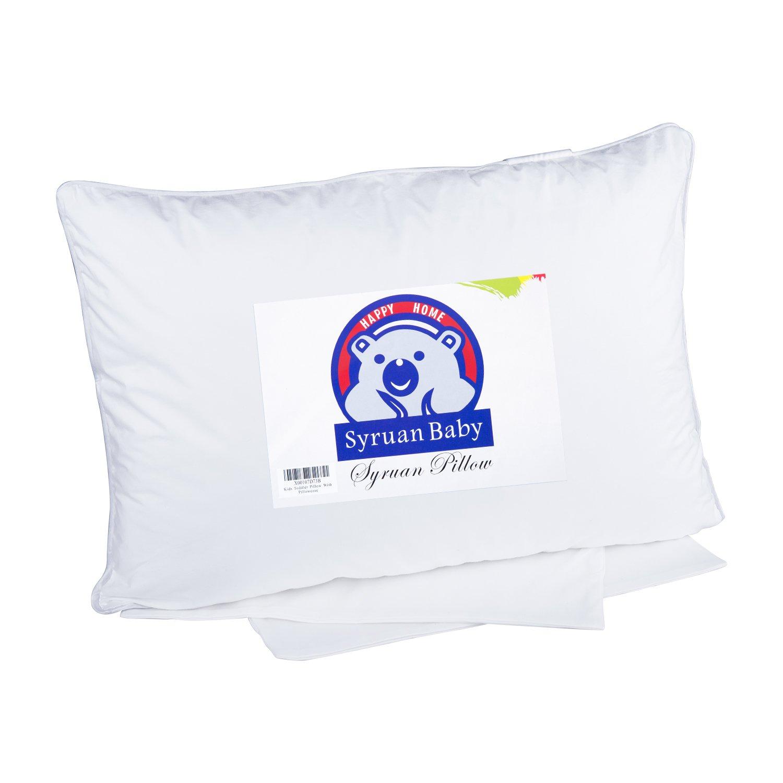 Syruan Toddler Pillow with Pillowcase 13x18 White