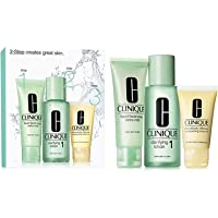 Clinique 3 Step Gel, Tónico, Crema Hidratante - 180 ml