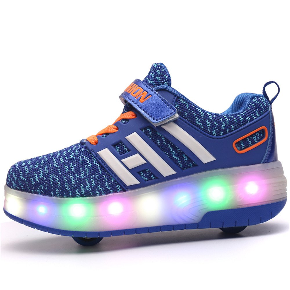 Gentleman/Lady Zarachielly LED Light up Sneakers Single Wheel Roller Roller Roller Skate Shoes Kids Boys Girls Shoes Easy to use Upper material high quality product WA9561 6bff78