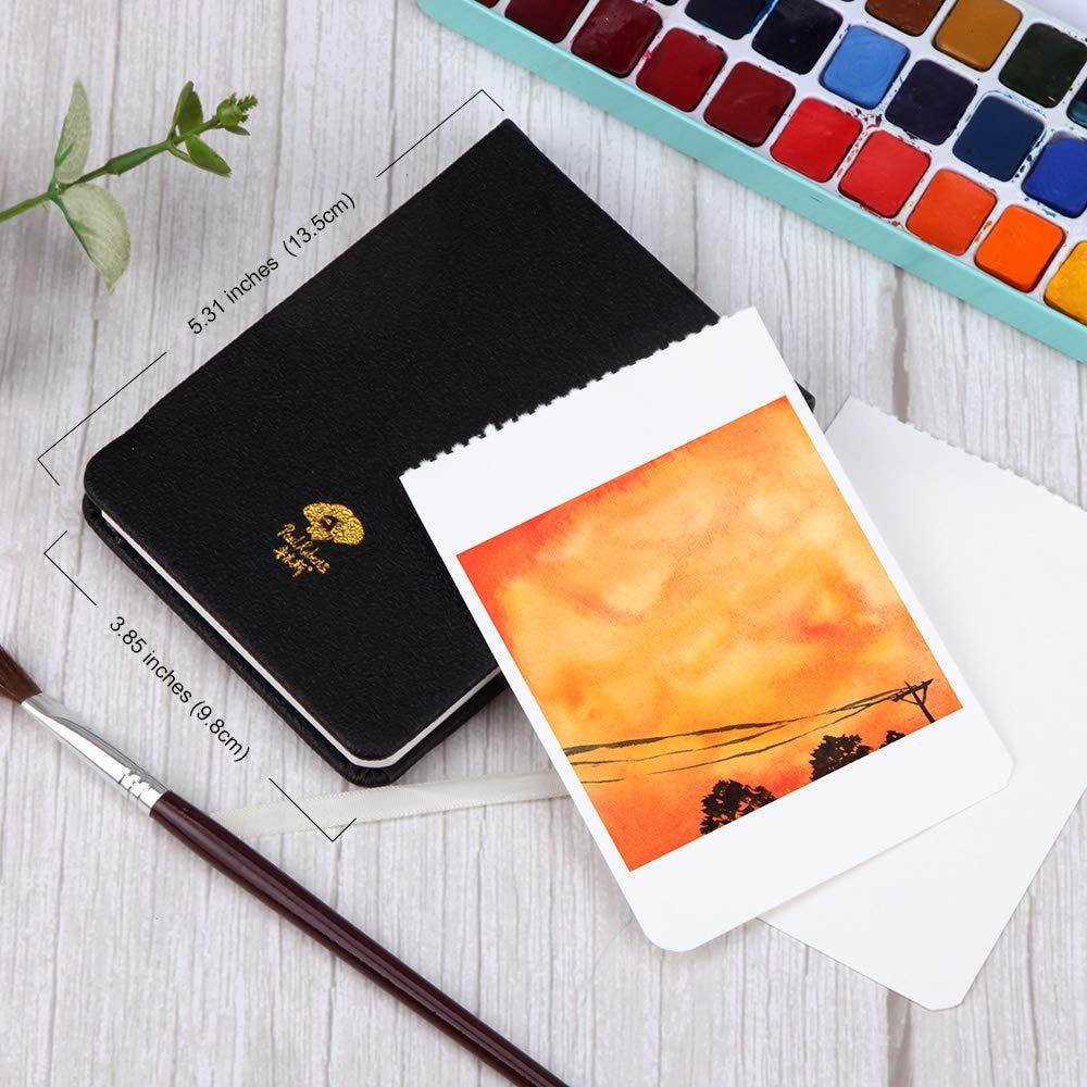 Journal de Voyage pour Peintres D/ébutants et Exp/ériment/és 20 Feuilles 7,6 x 5,3 Pouces 100/% Coton Cahier daquarelle Press/é /à Chaud Rose Paul Rubens Journal Aquarelle 140 lb // 300 g//m/²