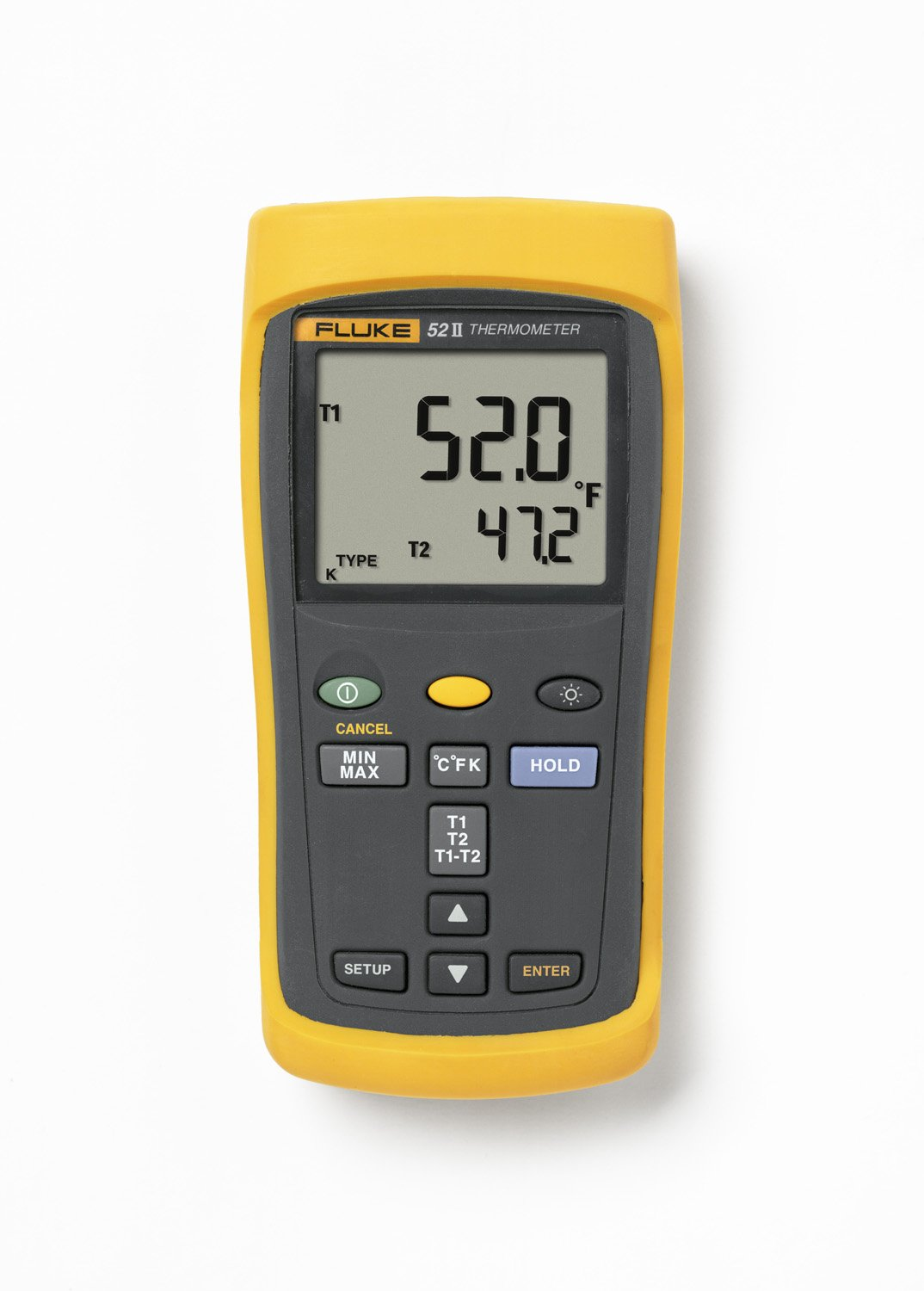Fluke 52-2 Dual Input Digital Thermometer with a NIST-Traceable Calibration Certificate with Data by Fluke (Image #1)