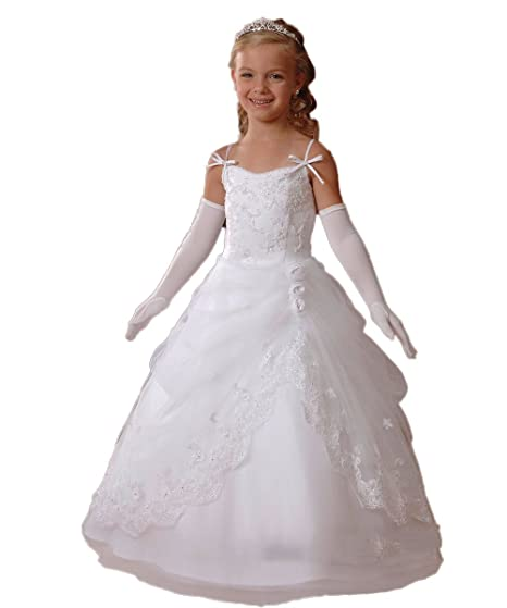 9805bb1c838d5 CoCoGirls Straps First Communion Dresses for Girls Wedding Flower Girl  Dresses: Amazon.co.uk: Clothing