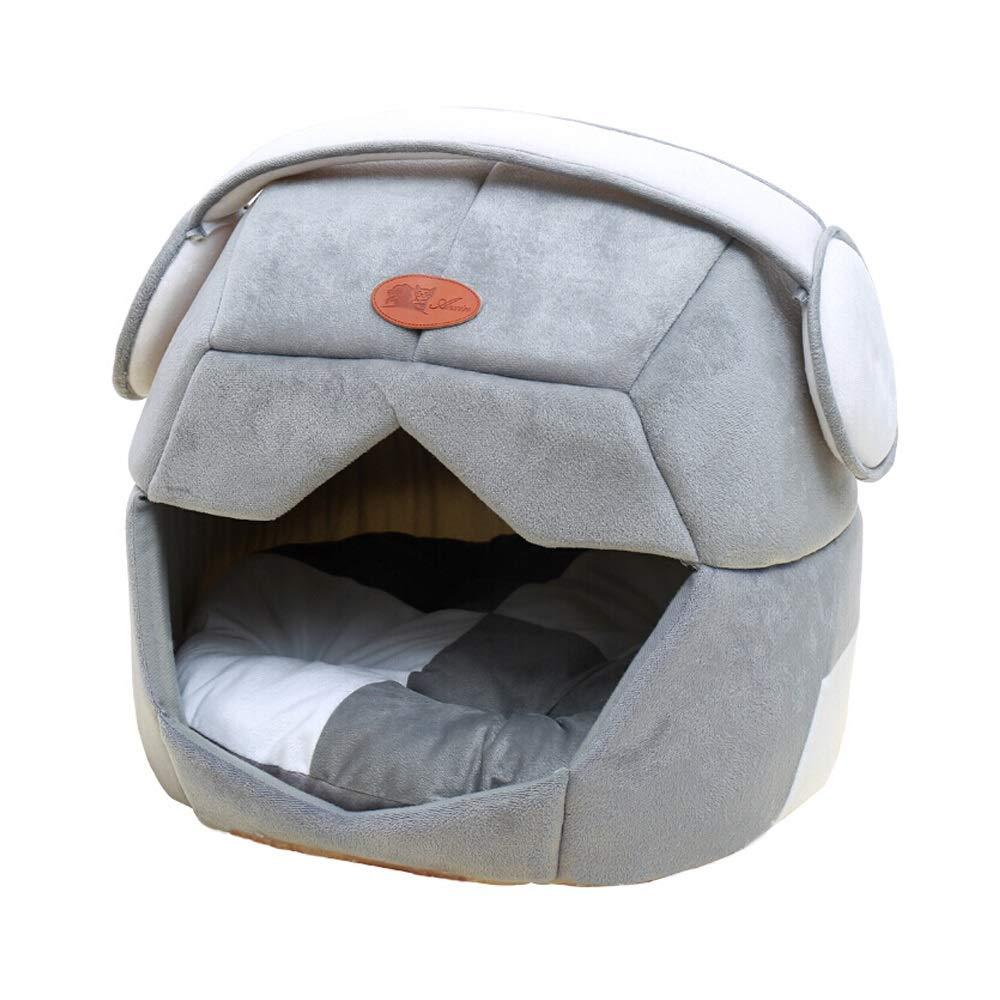 Jia Jia- ペットネストリムーバブル&ウォッシャブルフォーシーズンユニバーサルケンネルペットテディケンネルハウスキャットネストヴィラベアーネストケンネルサプライスペースネスト - グレー/ブルー 子猫子犬ペットの巣 (色 : B, サイズ さいず : L l) B07QWDB56Z A M m M m|A