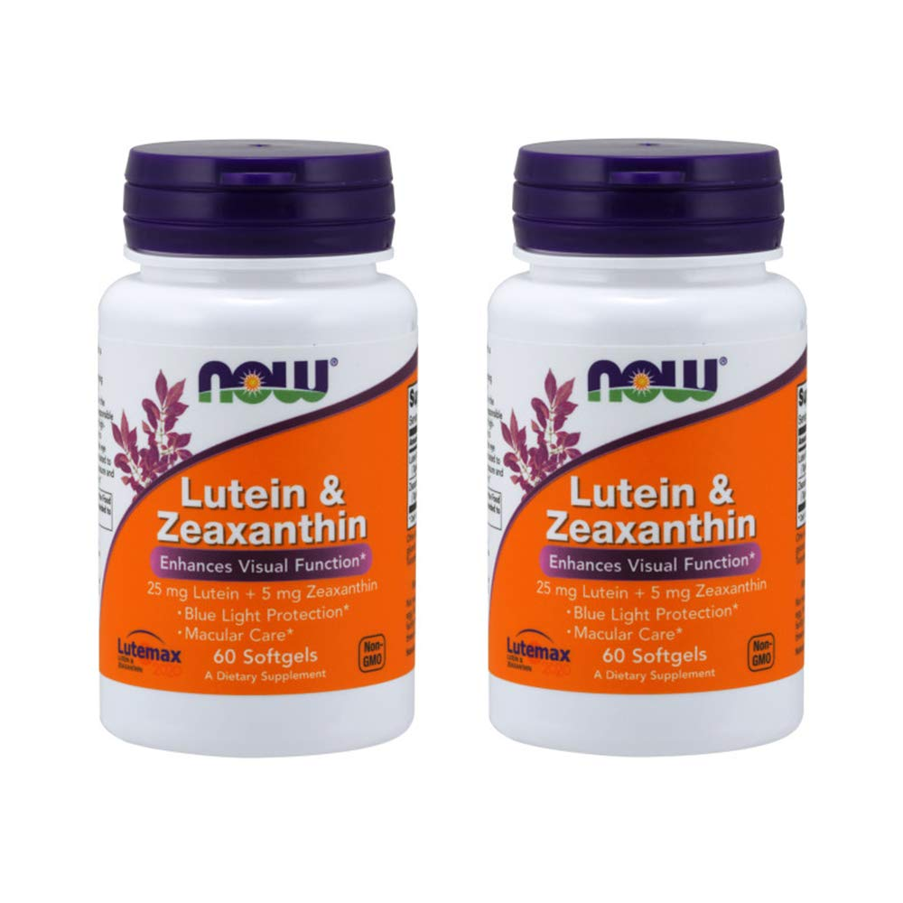Now Foods, Lutein & Zeaxanthin, 60 Softgels - 2PC