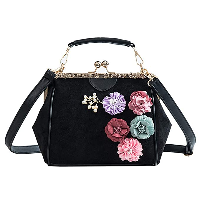 842769424ba2 Famous Spanish Woman Bags Purses For Women Tote H bags Flower Pearl Ladies  Messenger Crossbody Bag