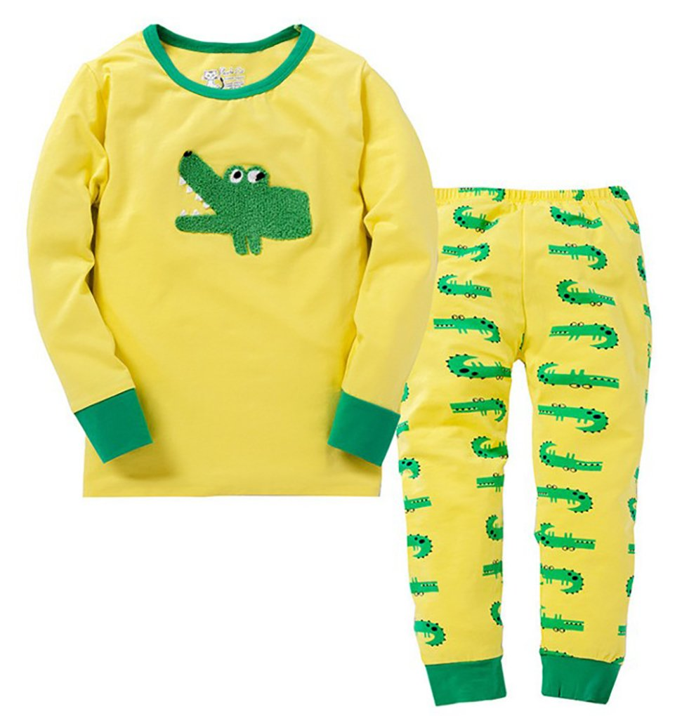 Babylike Panda Crocodile Boys 2 Piece Pajama Cotton Sleepwear 2-10 Years