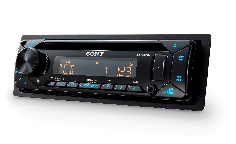 Bernstein Sony CDXG1301U.EUR Autoradio CD-Player, USB//AUX-Eingang, 4x 55 W, Extra Bass